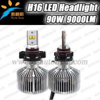 Factory wholesale price High power LED Headlight 45W Ph ilips LUMILEDs, 10-30V DC Canbus adjustable 4500LM H16 LED headlight