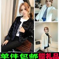 2014 autumn and winter fashion ol fashion elegant solid color long-sleeve slim short coat design