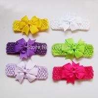 New 12pcs/lot crocet baby headbands  bow headband