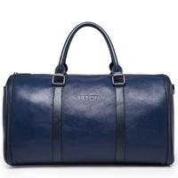 Men's Vintage Casual Solid Genuine Leather High Quality Big Capacity Travel Bag Tote Luggage Handbag 9959