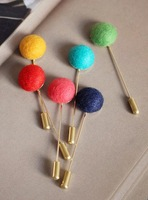 Wholesale Jewelry Fashion Glam Candy Color Lapel Pin Brooch Pins Women Party Date for Costume gioielli joyas 6 colors girls 2568