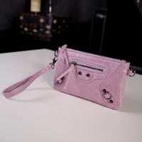 2014 fashion cross-body women's motorcycle handbag day clutch rivet tassel bag coin purse
