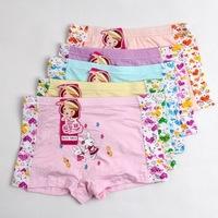 Beautiful Print Character Children Briefs Bamboo Fiber Short pants girls calcinhas underwear princesses  5PCS/LOT