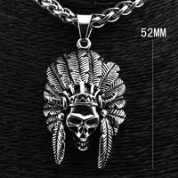 Men's 316L Stainless Steel Skull Pendant Necklace Chain P3059