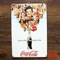 LIVE ON THE DRINK ON LIFE TIN SIGN Vintage Wall Deco Pub Metal ART Decor J-46 Mix order 20*30 CM