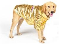 Wholesale Pet Product Large Dog Clothing Pet Winter Coat Big Dog Clothes Cotton Padded Jacket Gold Solid Snow Clothes 5pcs/lot