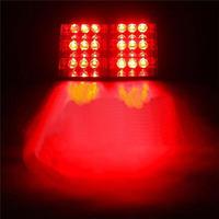 HS-51034 red  led flash light  LED Strobe Light 12v 5w  Emergency Flashing  for Car Truck Vehicle 18led sucker flash lamp