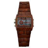 2015 Top Luxury Gift Items Bewell Brand Limited Edition Men Wood Watch Quartz Analog Digital Double Movement LED Men Wood Watch