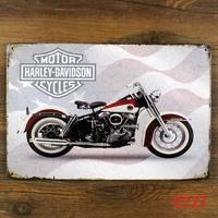Motorcycle METAL POSTER Retro Wall Plaque Vintage Painting Pub Decor K-77 Mix order 20*30 CM