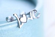 wholesale love 925 silver stud earring love stud earring wholesale rose gold earring wholesale stamped 925