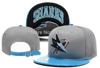 2015 new arrived Team San Jose Shark baseball caps Men womens Sports Snapback hats Fashion  hockey caps Free Shipping