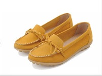 lady's  girl's  woman's  women's spring autumn colourful real geniune leather shoes   soft  suede shoes
