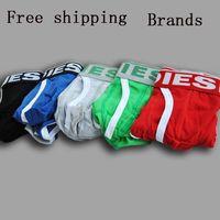 100% cotton man underweare sexy low waist short panties boy boxer mans trunk shorts underpants calzoncillos hombre Free shipping