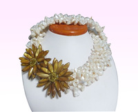 """#27  Free shipping. Hand-woven South Sea pearl necklace 16 """""""
