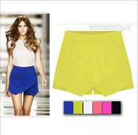 2015 summer women all-match shorts skirts front cariss-cross candy color shorts Multi-color women trouses casual shorts C057