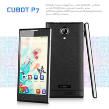 "5"" CUBOT P7 IPS QHD Screen 3G Smartphone Android 4.2 MTK6582 Quad Core Mobile Phone Dual SIM 4G ROM OTG GPS WIFI Black Phone"