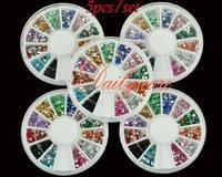 5x1800pcs Nail Art Rhinestone Glitter Round Mix 12 Color 2mm Nail Art Deco Glitters Gems
