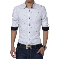 Men Shirt 2015 Brand Denim Shirt Men Long Sleeve Casual Shirt Fashion Slim Fit Mens Shirts Camisa  Masculina XXXL XXXXL