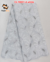 2015 new free shipping african swiss white voile lace high quality CL10031