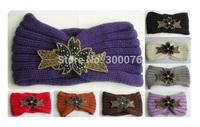 NEW Beaded Flower Jewel Knitted  Headbands Hair band Winter hair band