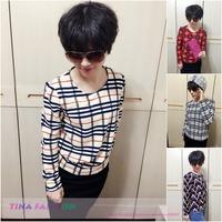 2015 New Women Blouses & Shirts Women's Fashion Long Sleeve Print Blouse Long Sleeve Casual Slim Shirts blusas femininas blusa
