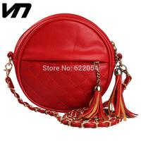 VEEVAN Women handbag fashion women messenger bags vintage shoulder bags tassel chain small bag pu leather handbags clutch purse