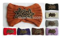 NEW Beaded Flower Jewel Knitted  Headbands Hair band Winter HeadWrap