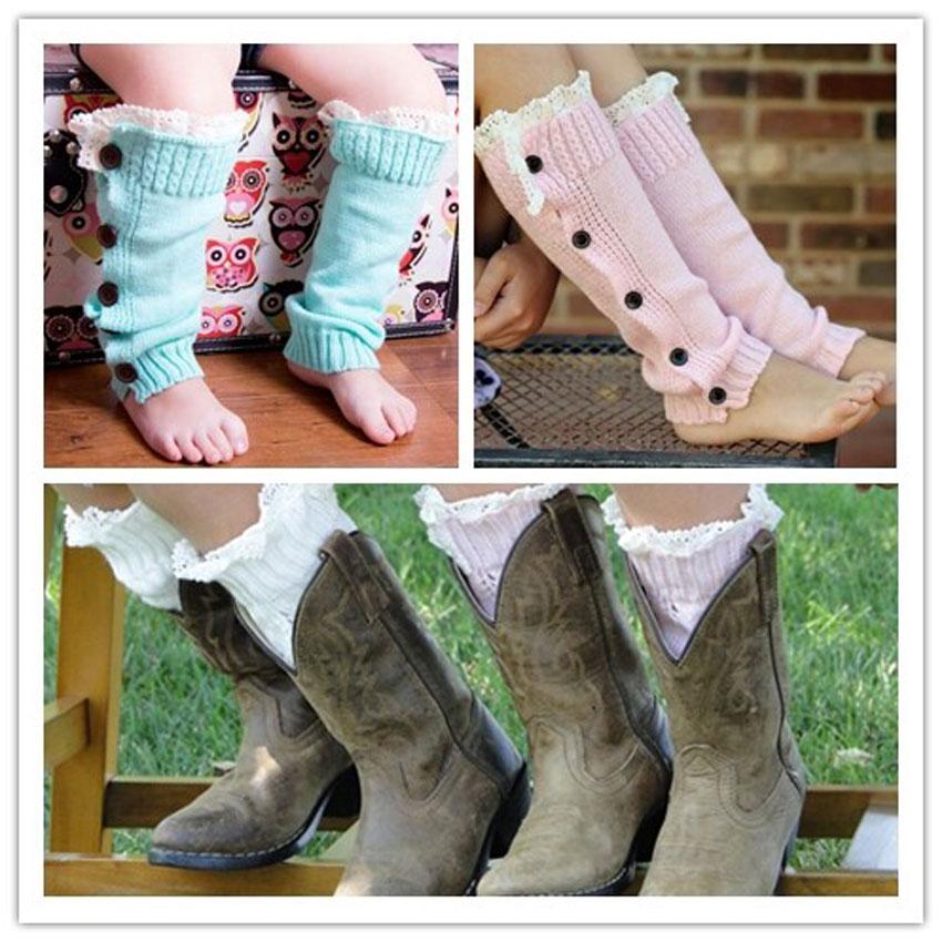 Winter Warm Girl Children Elegant Long Knit Thick Leg Warmer Knee High Hosiery Stocking(China (Mainland))
