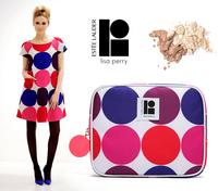 2015 new hot Cosmetic Bag Zipper Portable Multifunctional Travel Pockets Handbag Storage Bag,Fadish Organizer dot Makeup Bag