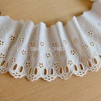 DIY Terylene lace trim e932 cutout lace fabric embroidery lace beige lace accessories 11cm wide