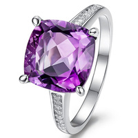 4k purple stone ring high quality female fashion personalized finger ring lovers jewelry ALW1917