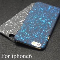 New arrival star matte hard case for iphone 6 6g 4.7 inch back cover phone case multi colors
