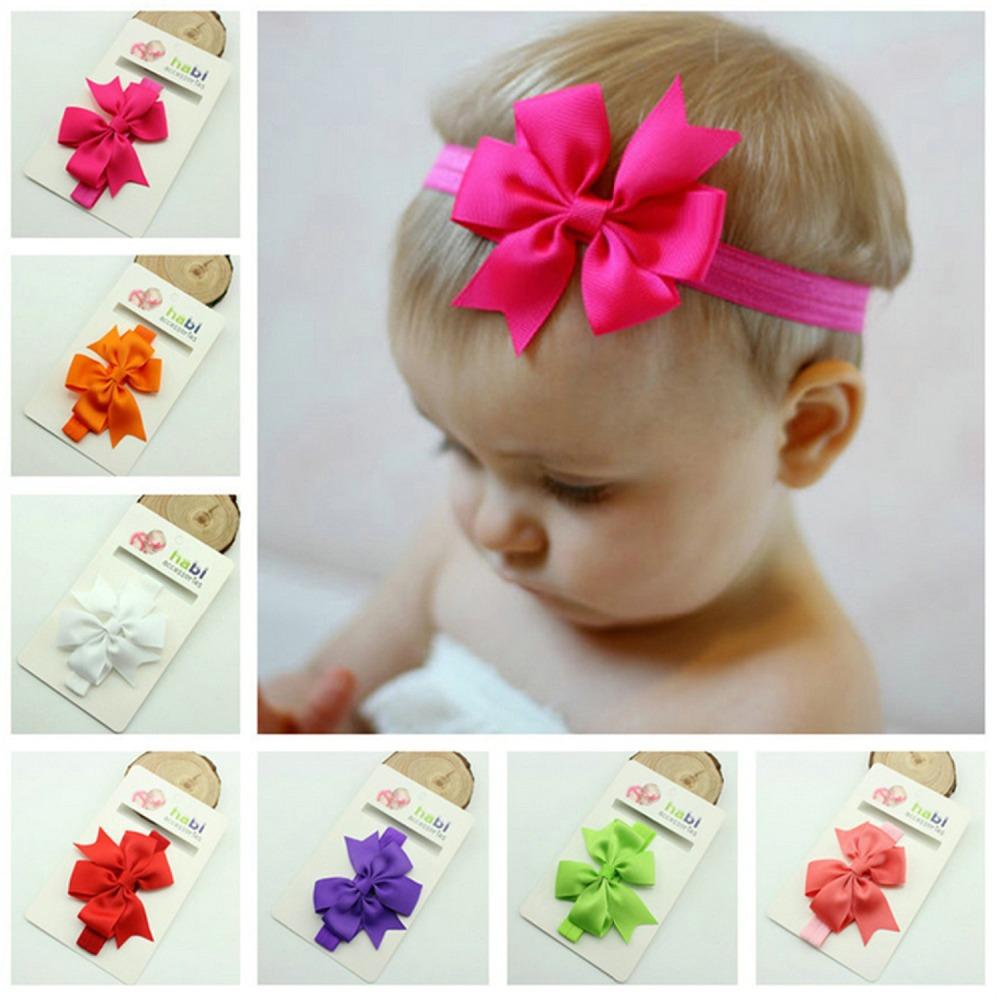 15 Colors Fashion Ribbon Fishtail Bow Elastics Baby Headbands Hair Accessory Girls Headbands(China (Mainland))
