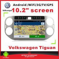 "10.2""inch  android Volkswagen Tiguan 3G  Wifi GPS Bluetooth TV multimedia player car audio radio"