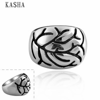 Stylish New 316L Stainless Steel Men's Skull Rings Punk Vintage Party Skeleton Jewelry 316L stainless steel punk ring KASHA010