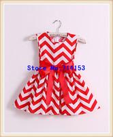 Hot sale!Retail girls dress chevron maxi dresses,adorable cotton chevron Halter dress for summer girl Beach dress