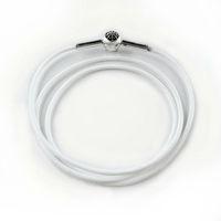 Fashion Jewelry white Cowhide Leather Necklaces for women men fashion diy jewelry leather chains four size 53cm 60cm 70cm 80cm