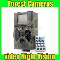 12MP Black Night Vision hunting camera infrared wildlife camera free shipping