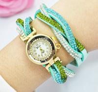 Women Watches 2015 New Bracelet Watch Ladies Fashion Hawaiian Rhinestone Dress Quartz Watch Women montre femme Relogio Feminino