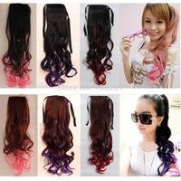 New sale!Free shipping!WHS High quality women's FashionFashion fake ponytail ponytail wig big wave gradient ponytail