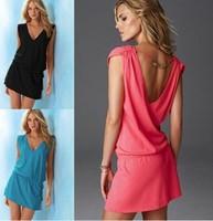 2015 summer new dress mercerized cotton sleeveless halter bikini beach vacation sun smock dress skirt