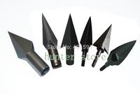 free shiping steel arrow tip 8.5mm diameter archery arrow point inserting wooden arrow or bow bamboo arrow 6pcs