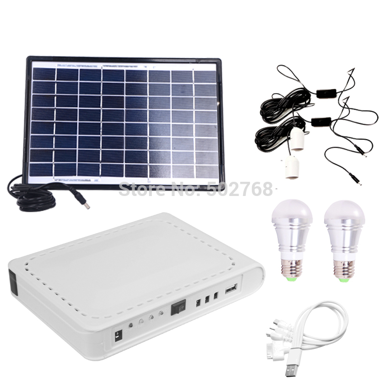 SUNERGY Home Solar Lighting System 8W Outdoor Solar Light Kit With LED Lamp A