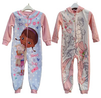 Retail Hot sale Children/kids/baby girls clothing/Spring/Autumn designer fleece Sleepwear/Robe/blanket pajamas/sleeper