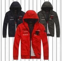 Free shipping Paul autumn new thin jacket Leisure fashion embroidery ancient loose coat Shark SHA-18013