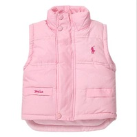 Brand Girls Boys Warm Vest Winter Outerwear Baby Waistcoat Children Clothing 100% Cotton Padded Kids Clothes Boy Girl Parka Coat