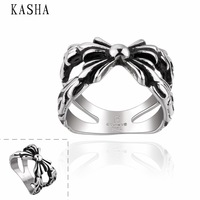 Stylish New 316L Stainless Steel Men's Skull Rings Punk Vintage Party Skeleton Jewelry 316L stainless steel punk ring KASHA004