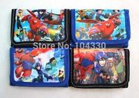 Big Hero 6 cartoon 24 pcs children short wallet bag purse new