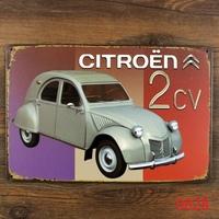 2CV CAR METAL Poster Retro TIN SIGN Craft House Hotel Decoration  H-117 Mix order 20*30 CM