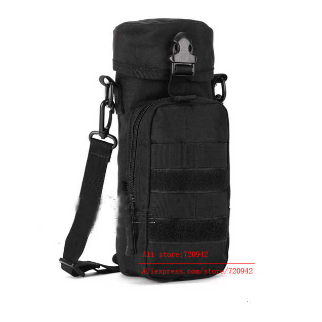 New Military MOLLE Tactical Travel Water Bottle Kettle Pouch Carry Bag Case Outdoor Handbag High Quality(China (Mainland))